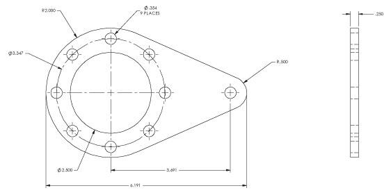 Bison P125-720-1030 PowerSTAR 720 Series Torque Arm